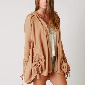 Free People Get your Gauze Cardigan Tan Size M